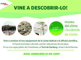 Imatge del event INAUGURACIÓ DEL MUSEU DEL CLIMA I LA CIÈNCIA DE LLEIDA