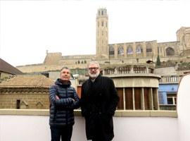 Imatge de la notícia L'alcalde Larrosa referma l'aposta de la Paeria per la regeneració urbana al Centre Històric