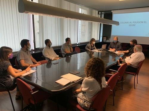 Imatge de la notícia Acord per col·laborar amb empreses del polígon industrial per reduir la població de coloms a la ciutat