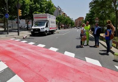 Actuació per connectar el carril bici entre les avingudes de Miquel Batllori i Artesa, a la Bordeta
