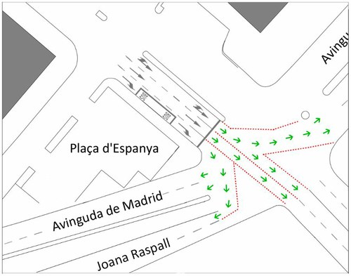 Imatge de la notícia Canvi de la senyalització a la plaça Espanya