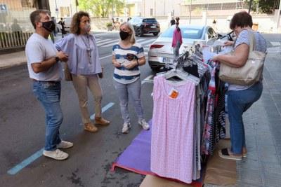 Comerços i entitats celebren el Pàrking Day als carrers de Lleida