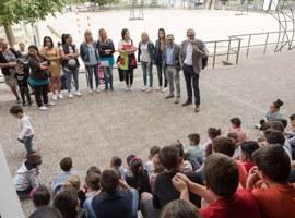 L'Escola de Magraners inaugura la remodelació del pati escolar