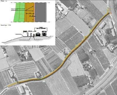 La Paeria adequa el lateral del Camí Vell d'Albatàrrec per a ús de bicicletes i vianants