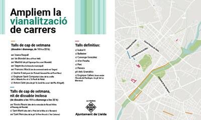 La Paeria senyalitzarà el carrer Antoni Solé, a la Bordeta, com a zona de vianants el cap de setmana
