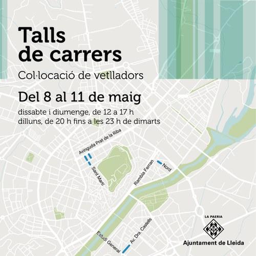 Imatge de la notícia La Paeria talla 4 carrers el pont festiu per a facilitar la col·locació de vetlladors de bars i restaurants