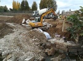 Obres d'emergència per reparar els camins danyats per la crescuda del Torrent de la Femosa i la Riera de les Canals