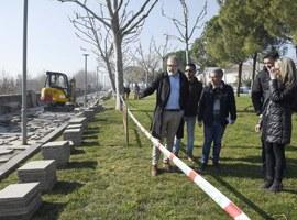 Obres per millorar l'accés en bicicleta al barri d'Instituts-Sant Ignasi i al Camp Escolar