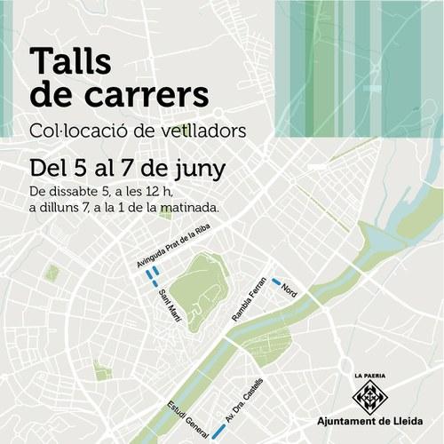 Imatge de la notícia Talls de trànsit a quatre carrers de la ciutat aquest cap de setmana