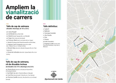 Trams de Doctora Castells, Mossèn Reig i Hostal de la Bordeta s'incorporen a la vianalització de carrers els caps de setmana