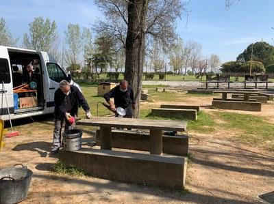 Actuació de manteniment a la zona de pícnic de les Basses