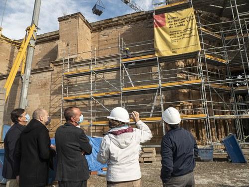Imatge de la notícia El Consorci de la Seu Vella aprova el pressupost del 2021 que contempla la restauració de les muralles del Baluard del Rei i fer-les visitables