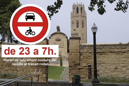 Imatge de la notícia El Turó de la Seu Vella tancarà l'accés nocturn als vehicles a partir de demà