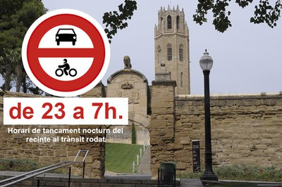 El Turó de la Seu Vella tancarà l'accés nocturn als vehicles a partir de demà
