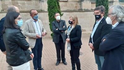La Paeria i la Generalitat actuaran conjuntament en la reparació del tram de muralla de la Seu Vella afectat per l'esllavissada