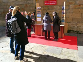 Imatge de la notícia Recollida d'enquestes a peu de carrer per decidir el futur del Palau de Vidre