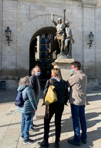 Imatge de la notícia El conjunt escultòric d'Indíbil i Mandoni viatjarà a Barcelona per a la seva restauració