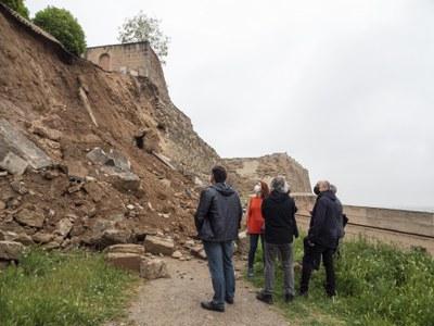 L'Ajuntament de Lleida iniciarà d'urgència els treballs de consolidació del tram de la muralla de la Seu Vella afectada per l'esllavissada