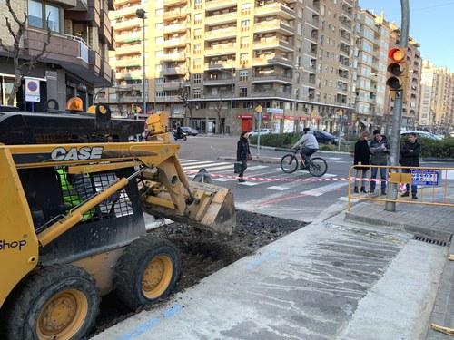 Imatge de la notícia La Paeria executa les obres de construcció del carril bici a l'avinguda Doctor Fleming