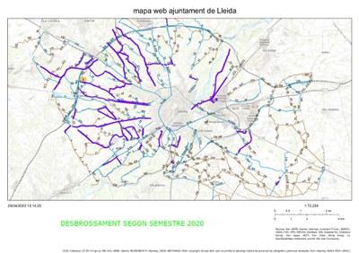 La Paeria inicia el desbrossament, neteja i millora de diversos camins de l'Horta de Lleida