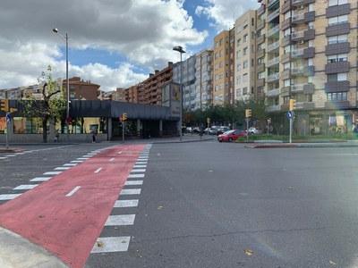 La Paeria inicia la segona fase de construcció del carril bici a Fleming, entre Ronda i Alcalde Pujol