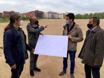 La Paeria inicia l'arranjament d'una nova zona verda de 17.000 m² al solar del carrer Alcalde Pujol