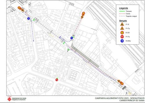 Imatge de la notícia La Paeria porta a terme reparacions als paviments de Príncep de Viana i Avinguda Catalunya