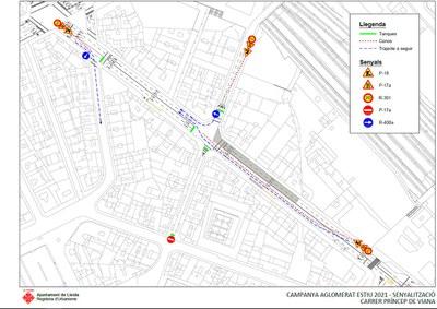 La Paeria porta a terme reparacions als paviments de Príncep de Viana i Avinguda Catalunya