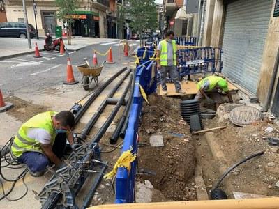 La Paeria reprèn les obres de millora de la xarxa d'aigua al carrer Bonaire