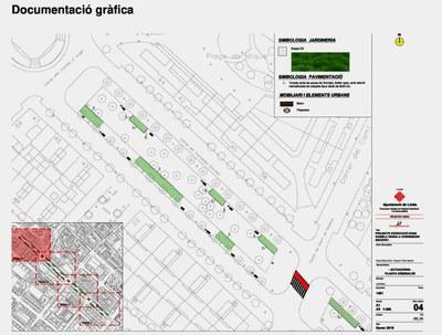 La Paeria reprendrà l'1 de juny les obres de la rambla verda de Corregidor Escofet