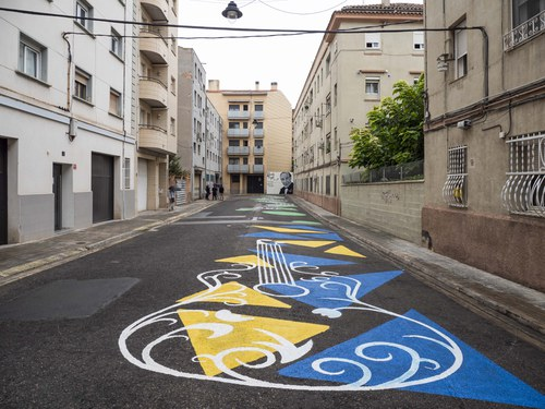 Imatge de la notícia Mural en homenatge al Mestre Emili Pujol en la vianalització del carrer que porta el seu nom
