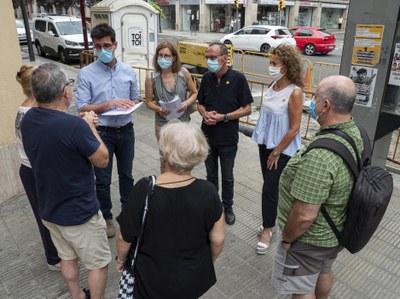 Obres per millorar la seguretat viària al Clot, amb un nou pas de vianants a Príncep de Viana