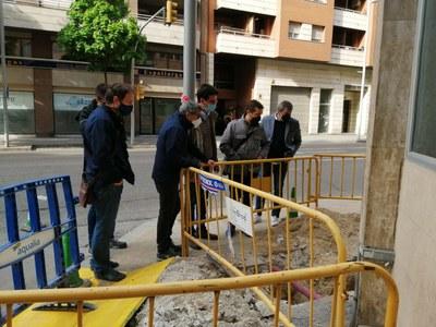 Renovació d'un tram de la xarxa d'aigua potable al carrer Comtes d'Urgell