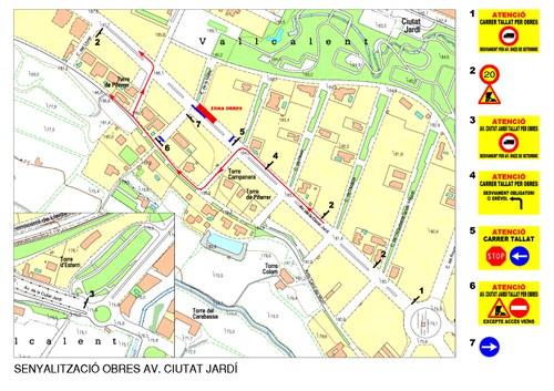 Imatge de la notícia Restriccions de trànsit a l'avinguda Ciutat Jardí per reparar l'enfonsament del paviment de llamborda