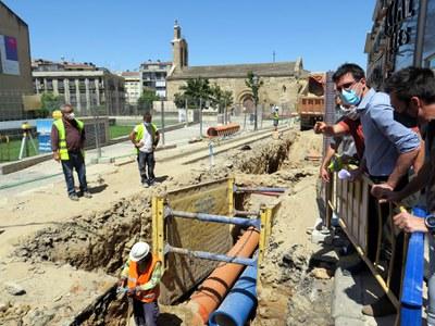 Tall de trànsit als carrers de Sant Martí i de Bonaire aquest dilluns per obres d'asfaltatge