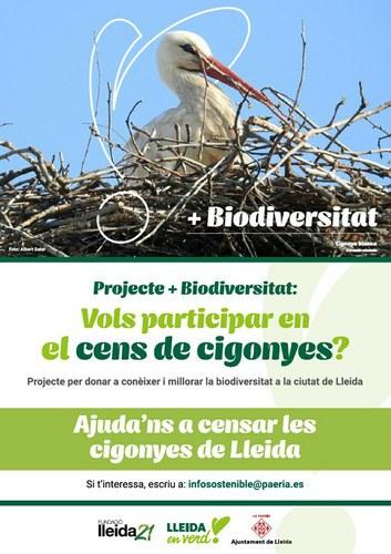 Imatge de la notícia ACTIVITAT AJORNADA - Cens de Cigonyes de Lleida, participa-hi!