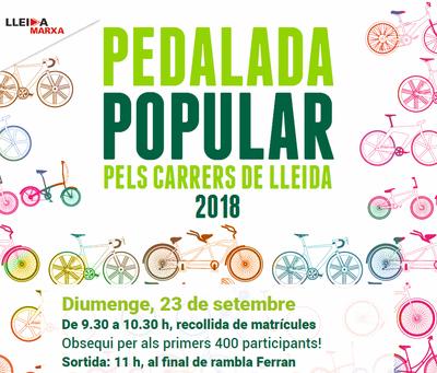 Imatge del event PEDALADA POPULAR PELS CARRERS DE LLEIDA- Diumenge, 23 de setembre de 2018