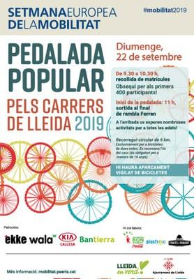 PEDALADA POPULAR PELS CARRERS DE LLEIDA- Diumenge, 22 de setembre de 2019