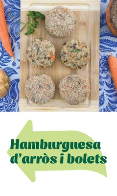 Hamburguesa arros