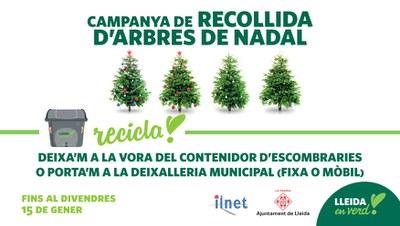 Campanya de recollida d'arbres de Nadal