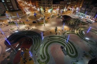 Els nous espais públics de Lleida estrenen il·luminació de Nadal