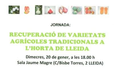 Jornada sobre varietats tradicionals a l'Horta de Lleida