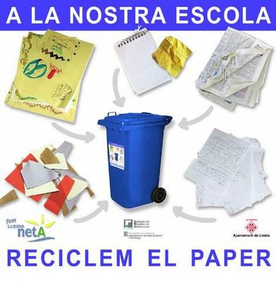 L'Ajuntament de Lleida endega un nou servei de recollida de paper als centres escolars de Lleida