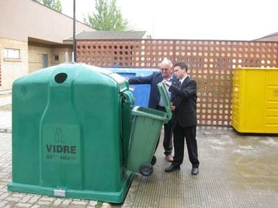 L'Ajuntament instal•la nous contenidors de vidre pel sector de l'Hostaleria