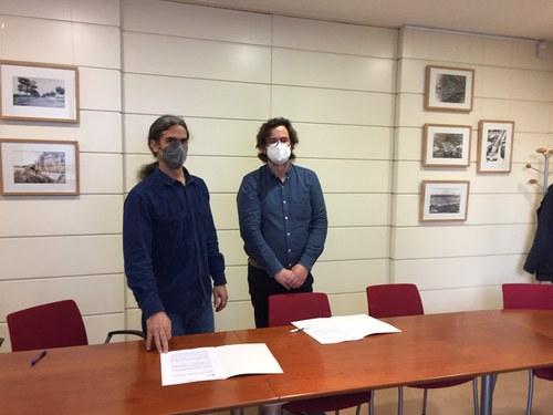 Imatge de la notícia L'EMU i la Fundació Hàbitat3 signen un conveni que aporta 18 habitatges amb lloguer social