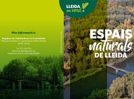La Paeria edita un fulletó amb els espais naturals de Lleida