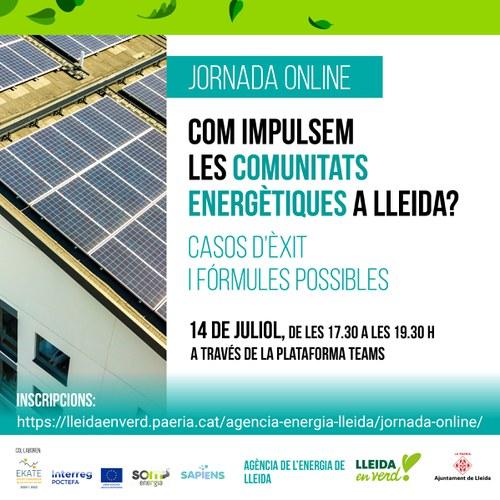 Imatge de la notícia La Paeria organitza una jornada informativa per a impulsar les comunitats energètiques a Lleida