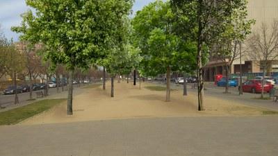 La rambla de Pardinyes, camí de transformar-se en un bosc urbà
