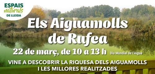 Imatge de la notícia Lleida commemora el Dia Mundial de l'Aigua amb la presentació de la millora dels Aiguamolls de Rufea a tota la ciutadania