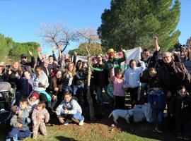 Plantació popular d'arbres al bosquet de Palauet de la Bordeta